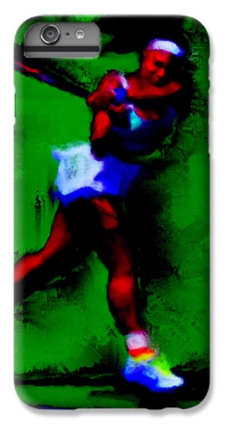 Venus Williams iPhone 6 Plus Case - Serena Williams Powerful Return by Brian Reaves