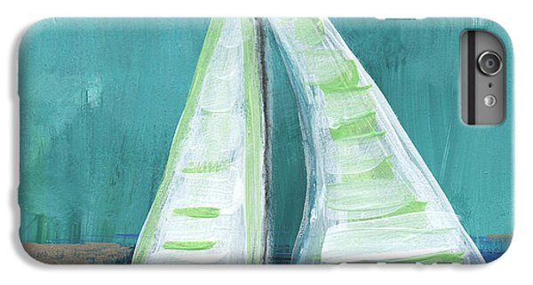 Boat iPhone 6 Plus Case - Set Free- Sailboat Painting by Linda Woods
