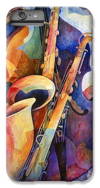 Saxophone iPhone 6 Plus Case - Sexy Sax by Susanne Clark