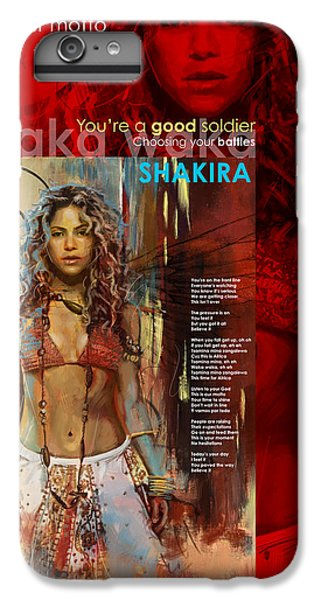 Shakira Art Poster IPhone 6 Plus Case by Corporate Art Task Force