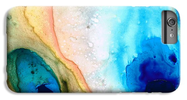Shoreline - Abstract Art By Sharon Cummings IPhone 6 Plus Case by Sharon Cummings
