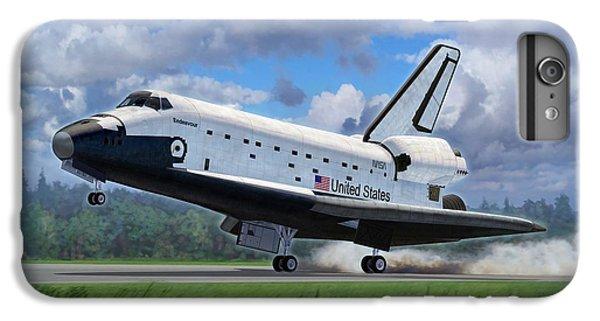Space Ships iPhone 6 Plus Case - Shuttle Endeavour Touchdown by Stu Shepherd