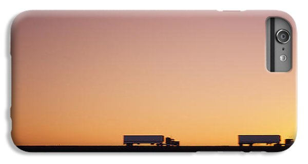 Silhouette Of Two Trucks Moving IPhone 6 Plus Case