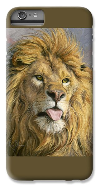 Lion iPhone 6 Plus Case - Silly Face by Lucie Bilodeau