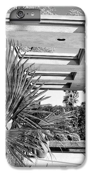 Sinatra Patio Bw Palm Springs IPhone 6 Plus Case