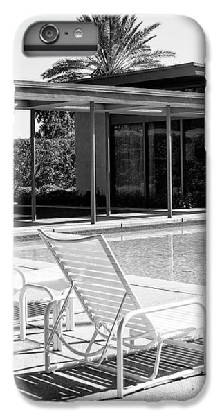 Sinatra Pool Bw Palm Springs IPhone 6 Plus Case by William Dey