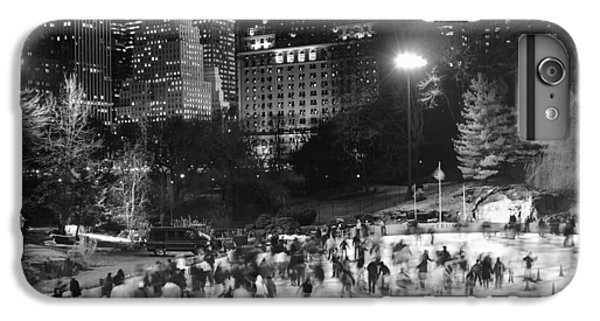 New York City - Skating Rink - Monochrome IPhone 6 Plus Case by Dave Beckerman
