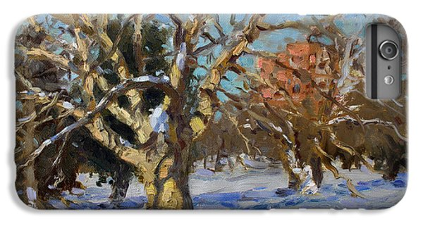 Goat iPhone 6 Plus Case - Snow In Goat Island Park  by Ylli Haruni