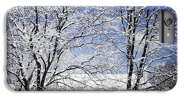 House iPhone 6 Plus Case - #snow #winter #house #home #trees #tree by Jill Battaglia