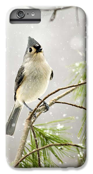 Snowy Songbird IPhone 6 Plus Case by Christina Rollo