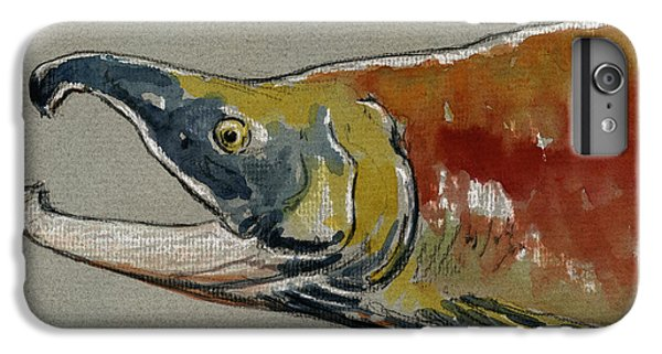 Salmon iPhone 6 Plus Case - Sockeye Salmon Head Study by Juan  Bosco