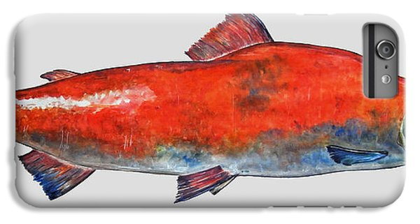 Salmon iPhone 6 Plus Case - Sockeye Salmon by Juan  Bosco
