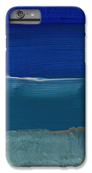 Los Angeles iPhone 6 Plus Case - Soft Crashing Waves- Abstract Landscape by Linda Woods