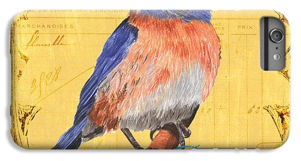 Bluebird iPhone 6 Plus Case - Colorful Songbirds 1 by Debbie DeWitt