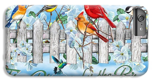Cardinal iPhone 6 Plus Case - Songbirds Fence by JQ Licensing