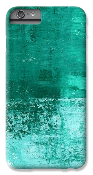 Los Angeles iPhone 6 Plus Case - Soothing Sea - Abstract Painting by Linda Woods