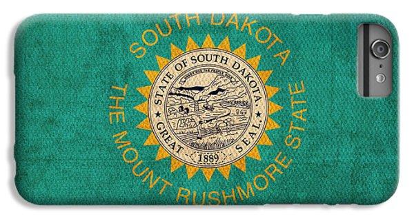 South Dakota State Flag Art On Worn Canvas IPhone 6 Plus Case by Design Turnpike