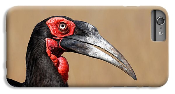 Southern Ground Hornbill Portrait Side View IPhone 6 Plus Case by Johan Swanepoel
