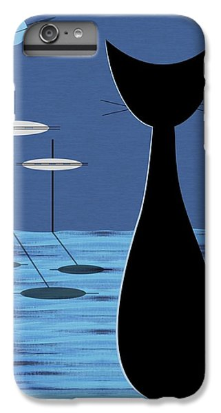 Space Cat In Blue IPhone 6 Plus Case