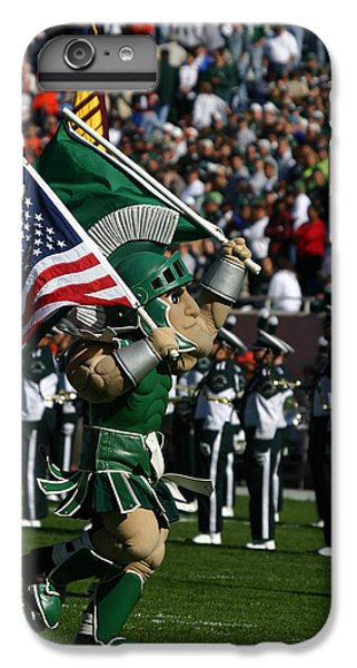 Sparty At Football Game IPhone 6 Plus Case by John McGraw