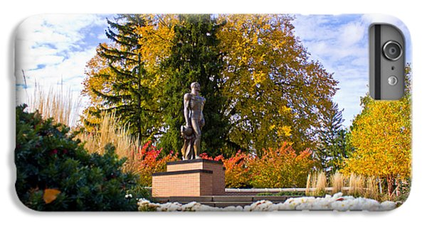 Sparty In Autumn  IPhone 6 Plus Case by John McGraw