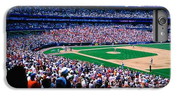 New York Mets iPhone 6 Plus Case - Spectators In A Baseball Stadium, Shea by Panoramic Images