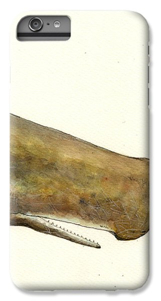 Sperm Whale First Part IPhone 6 Plus Case by Juan  Bosco