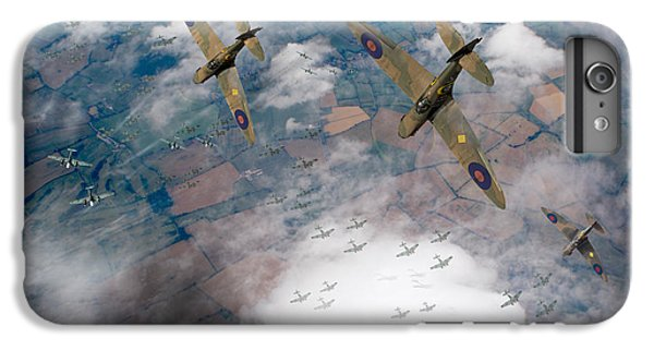 Raf Spitfires Swoop On Heinkels In Battle Of Britain IPhone 6 Plus Case by Gary Eason