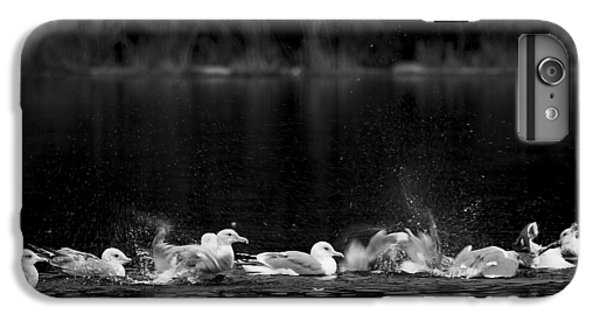 IPhone 6 Plus Case featuring the photograph Splashing Seagulls by Yulia Kazansky