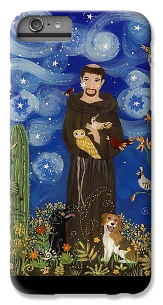 Woodpecker iPhone 6 Plus Case - St. Francis Starry Night by Sue Betanzos
