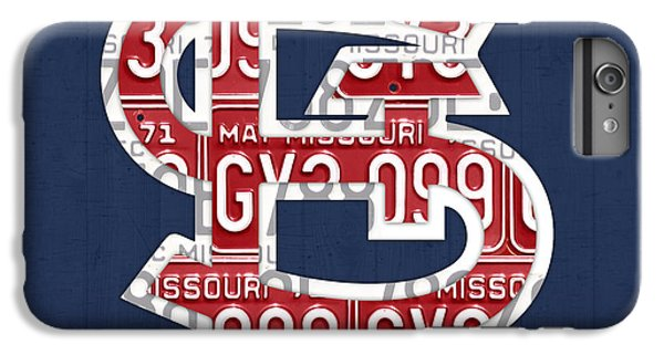 Cardinal iPhone 6 Plus Case - St. Louis Cardinals Baseball Vintage Logo License Plate Art by Design Turnpike