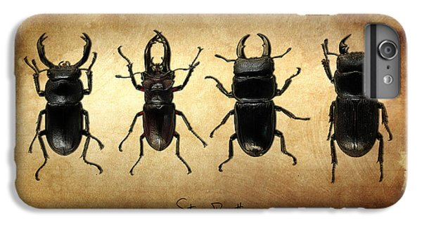 Stag Beetles IPhone 6 Plus Case by Mark Rogan
