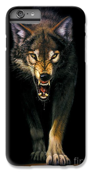 Stalking Wolf IPhone 6 Plus Case by MGL Studio - Chris Hiett