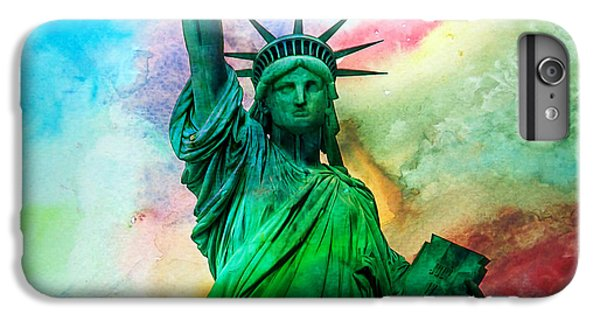 Statue Of Liberty iPhone 6 Plus Case - Stand Up For Your Dreams by Az Jackson
