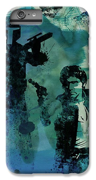 Han Solo iPhone 6 Plus Case - Star Warriors Watercolor 2 by Naxart Studio