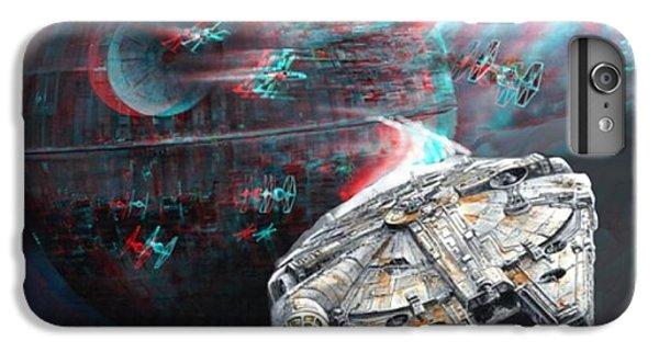 Han Solo iPhone 6 Plus Case - Star Wars 3d Millennium Falcon by Paul Van Scott