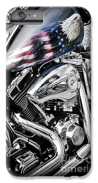 Stars And Stripes Harley  IPhone 6 Plus Case