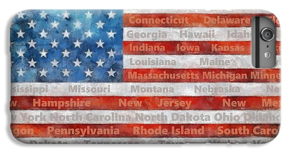 Stars And Stripes With States IPhone 6 Plus Case
