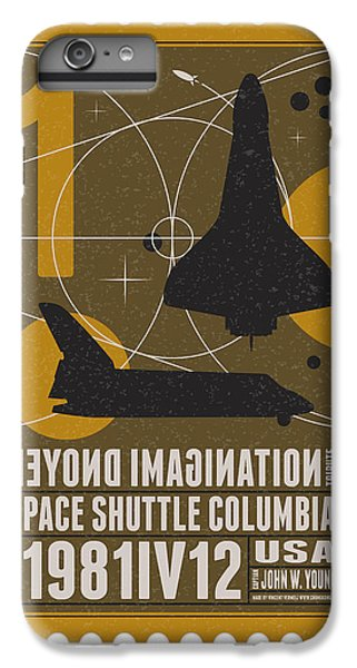 Science Fiction iPhone 6 Plus Case - Starschips 01-poststamp - Spaceshuttle by Chungkong Art