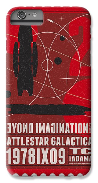 Science Fiction iPhone 6 Plus Case - Starschips 02-poststamp - Battlestar Galactica by Chungkong Art