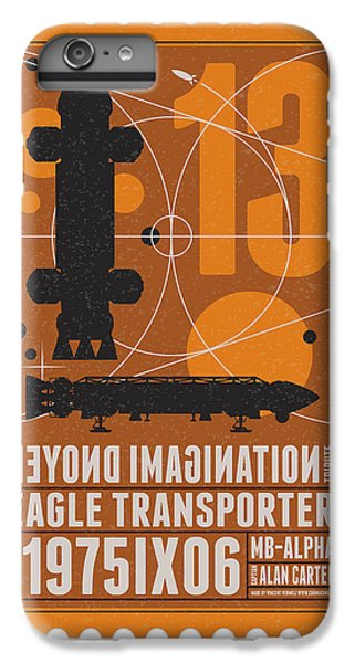 Science Fiction iPhone 6 Plus Case - Starschips 13-poststamp - Space 1999 by Chungkong Art