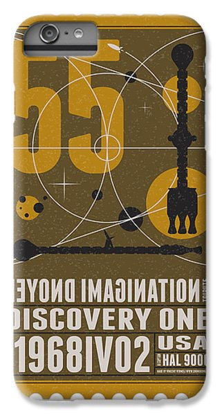 Science Fiction iPhone 6 Plus Case - Starschips 55-poststamp -discovery One by Chungkong Art