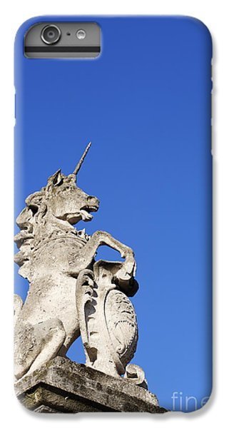 Statue Of A Unicorn On The Walls Of Buckingham Palace In London England IPhone 6 Plus Case by Robert Preston