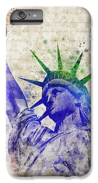 Central Park iPhone 6 Plus Case - Statue Of Liberty by Aged Pixel