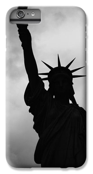 Statue Of Liberty Silhouette IPhone 6 Plus Case by Dave Beckerman