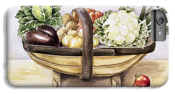 Still Life With A Trug Of Vegetables IPhone 6 Plus Case by Alison Cooper