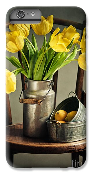 Still Life With Yellow Tulips IPhone 6 Plus Case by Nailia Schwarz