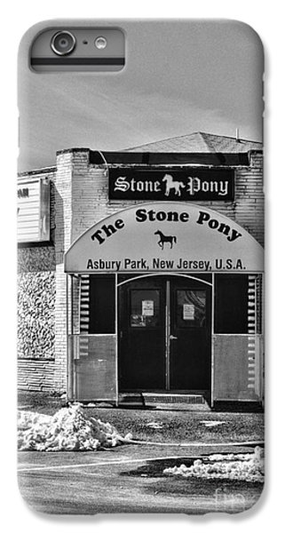 Stone Pony In Black And White IPhone 6 Plus Case by Paul Ward