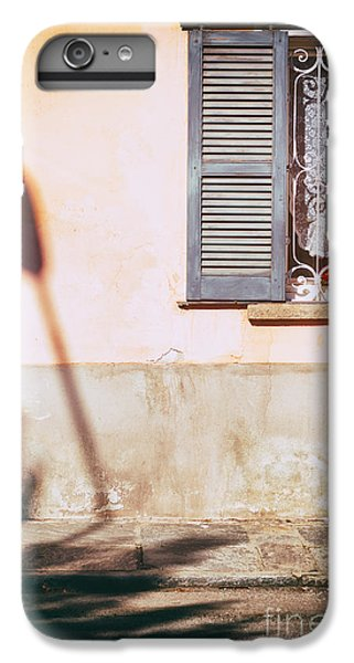 IPhone 6 Plus Case featuring the photograph Street Lamp Shadow And Window by Silvia Ganora