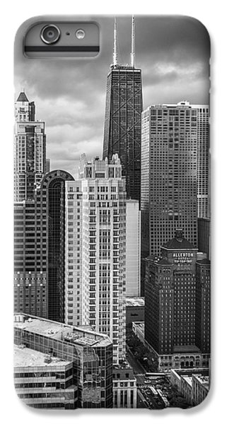 Streeterville From Above Black And White IPhone 6 Plus Case by Adam Romanowicz